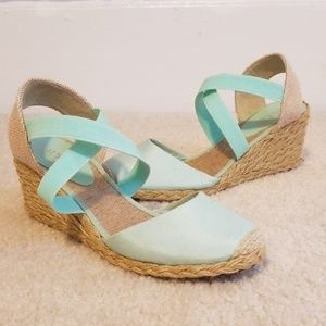 Ralph Lauren Espadrille Wedge Sandals